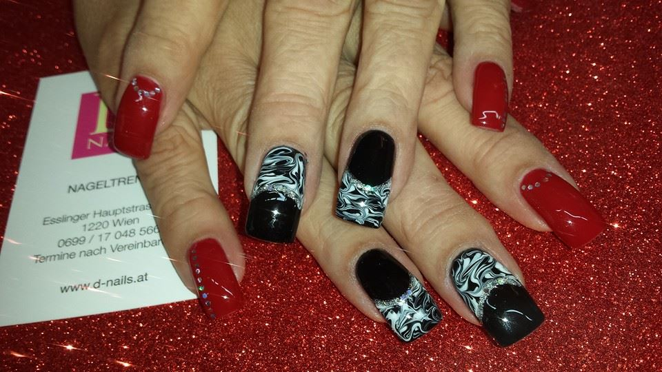 elegantes nagelmuster by d nails nageldesign wien d nails. Black Bedroom Furniture Sets. Home Design Ideas