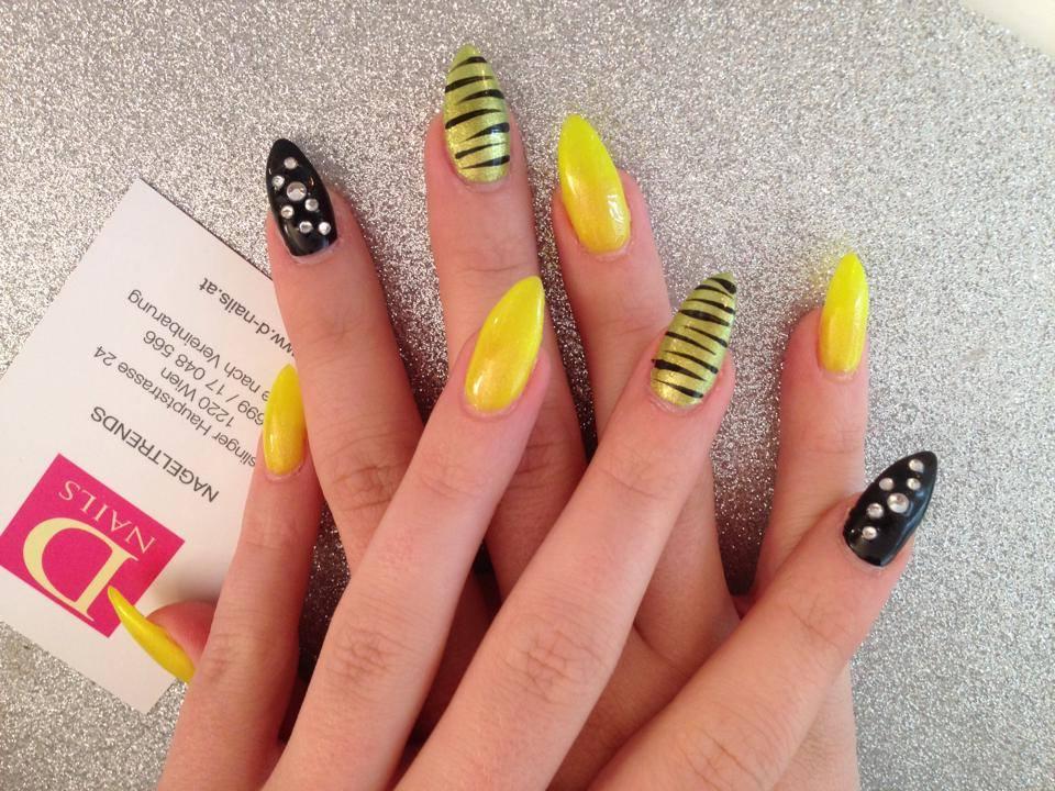gelb ist das neue schwarz by d nails nageldesign wien d